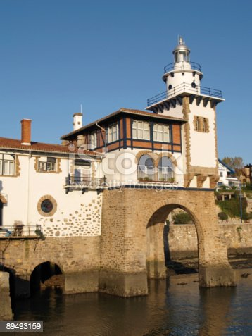 182416027 istock photo Arriluce lighthouse in Getxo, Vizcay, Basque Country 89493159