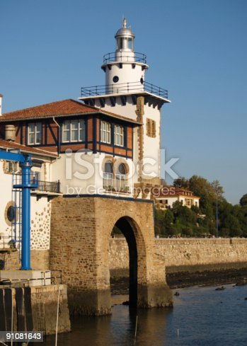 182416027 istock photo Arriluce lighthouse in Getxo, Vizcay, Basque Country 91081643