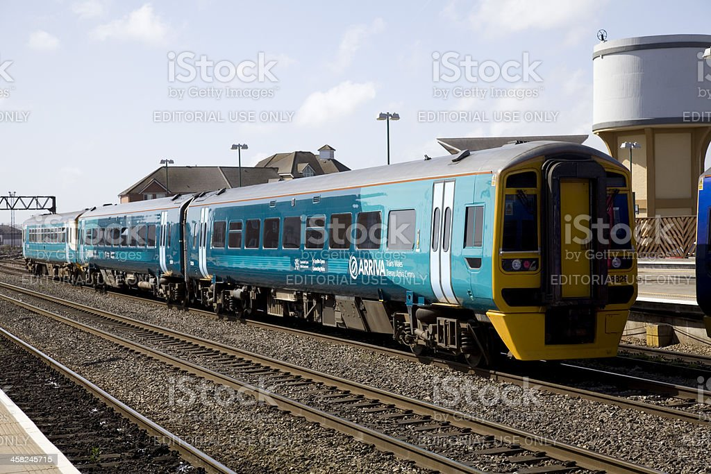 Arriva Trains Wales Train at Cardiff Station stock photo