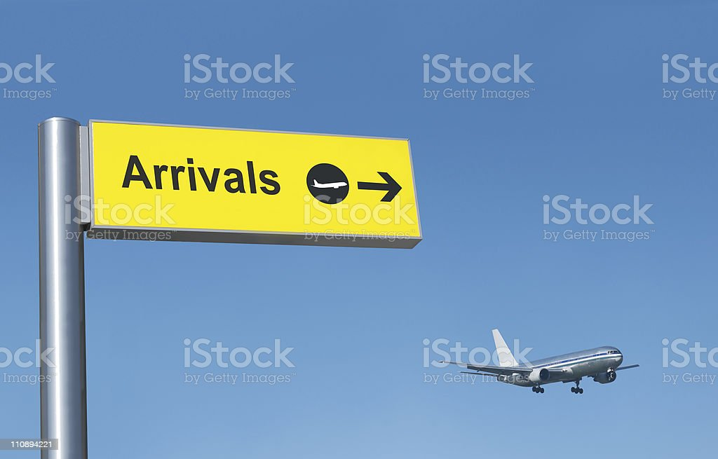 Arrival at the airport royalty-free stock photo