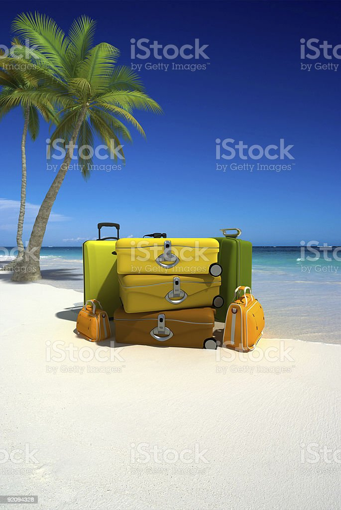 Arrival day stock photo