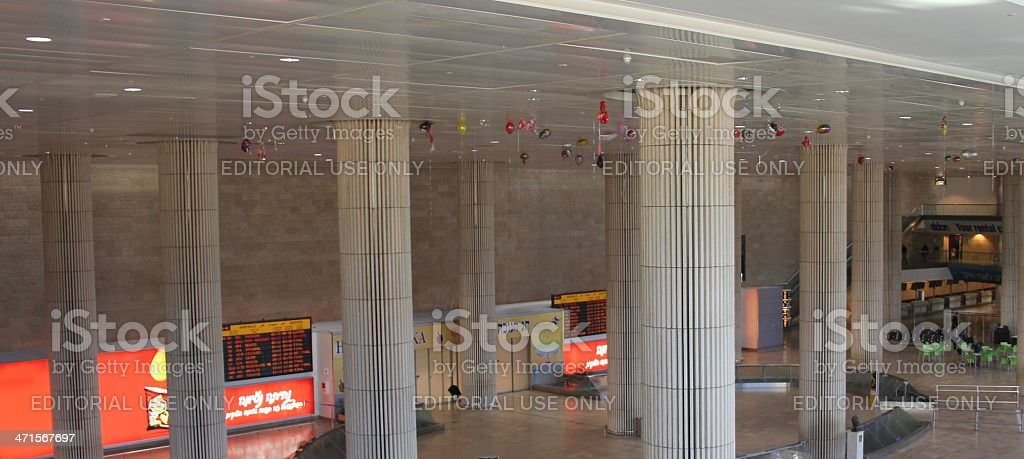 Arrival Hall of  Ben Gurion Airport royalty-free stock photo