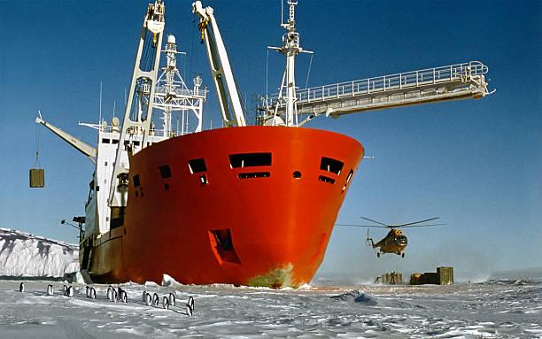 Ankunft, der Antarktis-expedition – Foto
