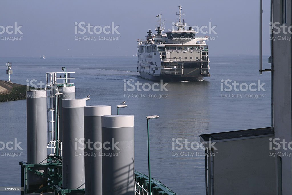 Arrival Texel ferry royalty-free stock photo