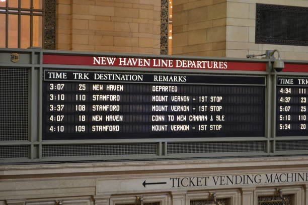 Arrivals and Departures - Grand Central Station, New York stock photo
