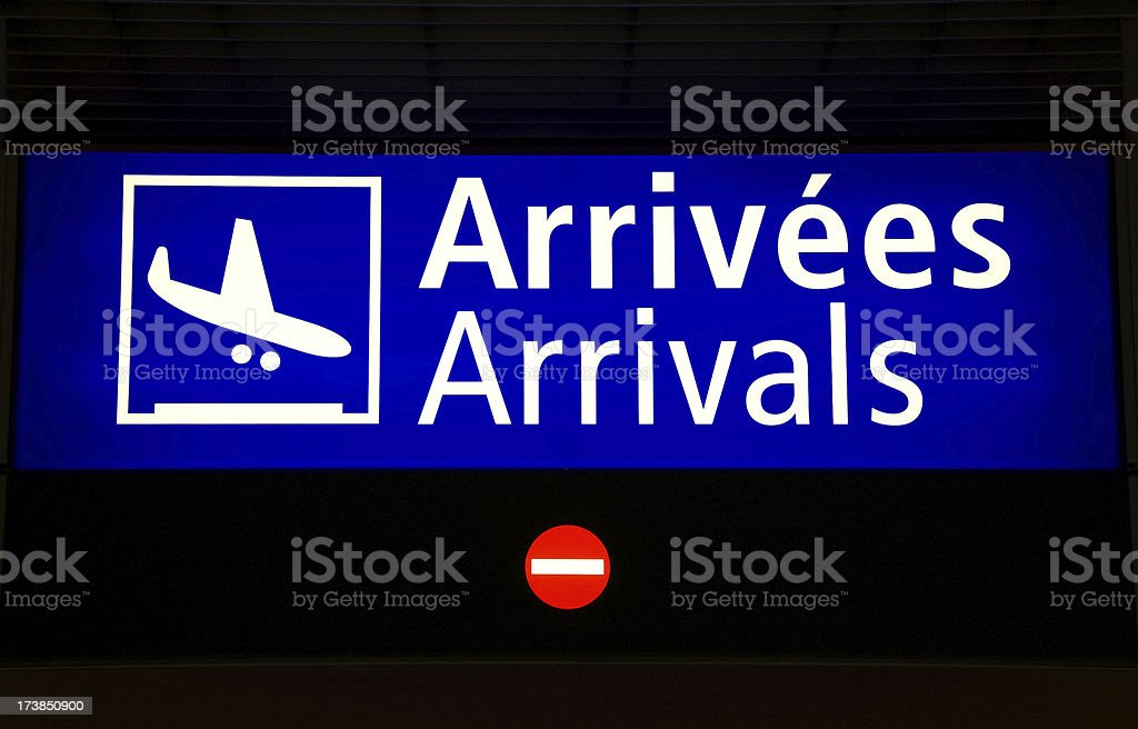 Arrivals board royalty-free stock photo
