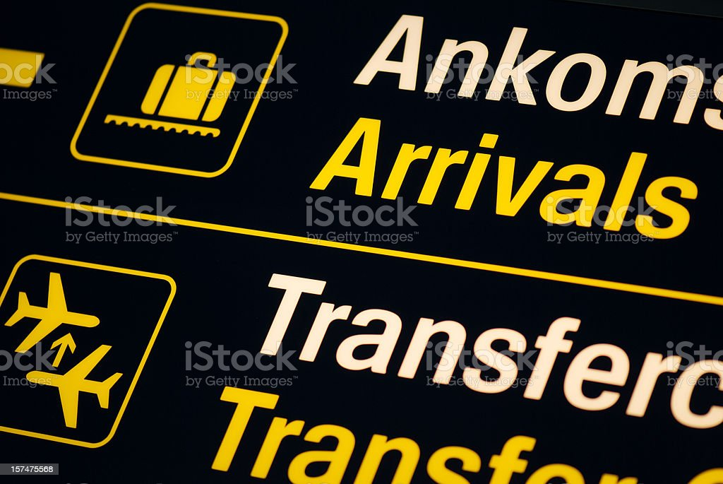 Arrivals royalty-free stock photo