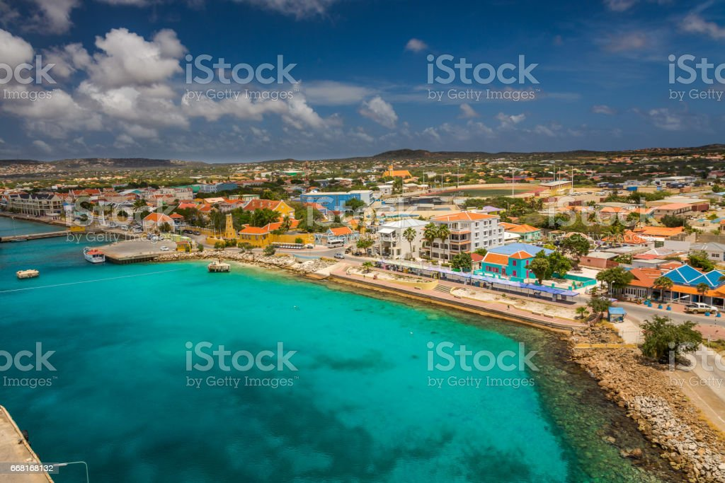 Arriving at Bonaire stock photo