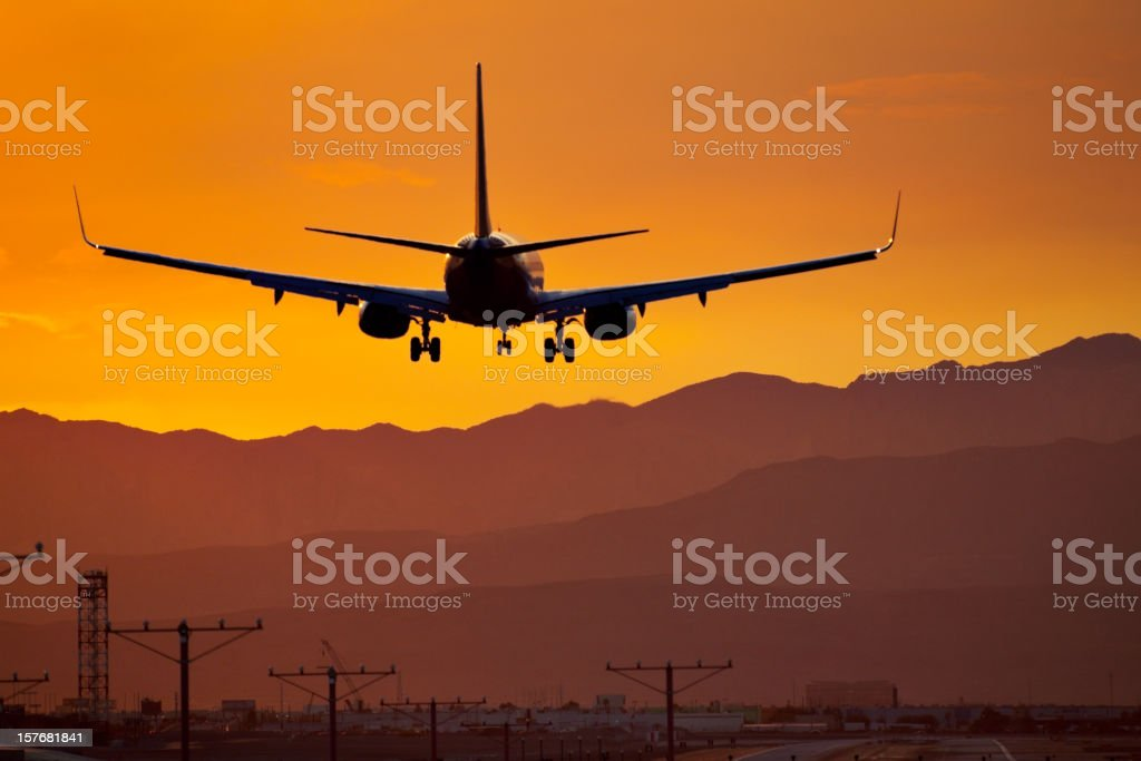 Arriving at Dusk stock photo