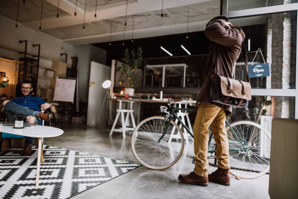 arriving at office - cool attitude stock photos and pictures