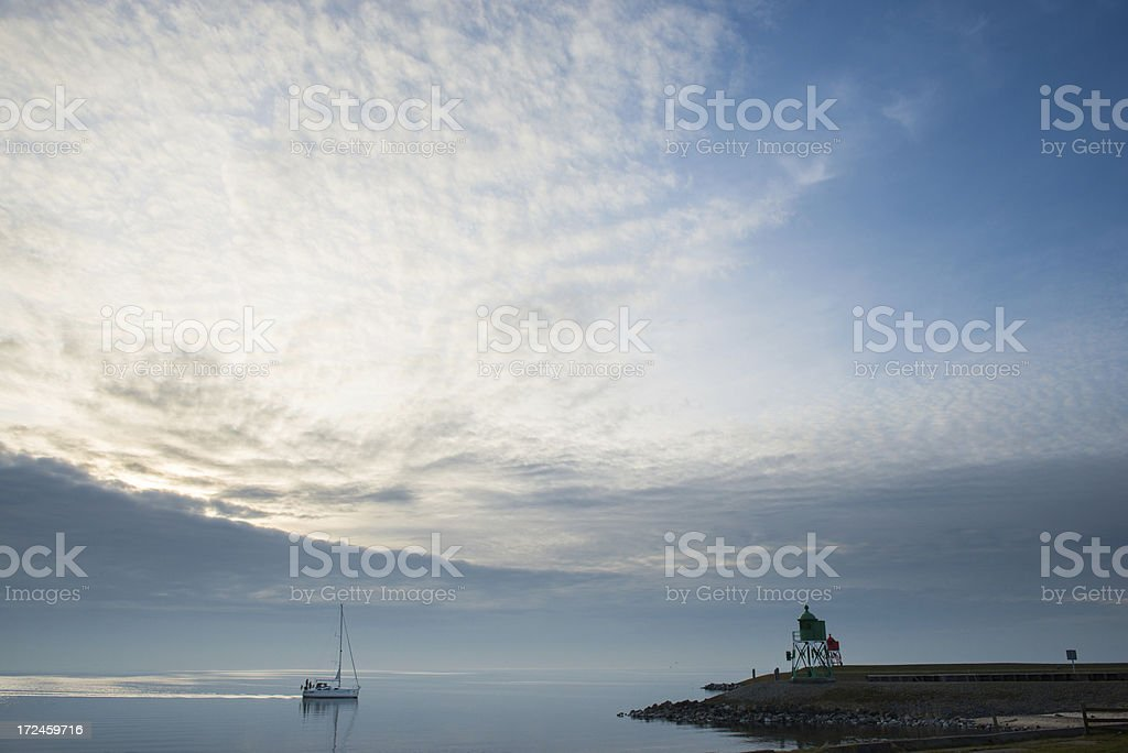 Arriving at the port royalty-free stock photo