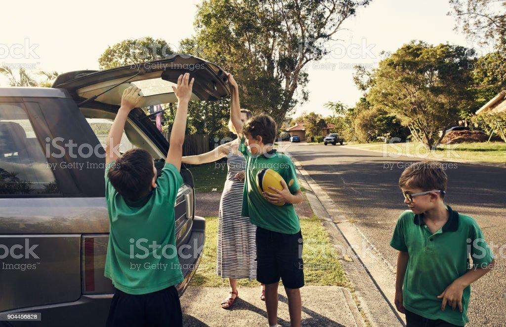 Zuhause angekommen, nach der Schule! – Foto