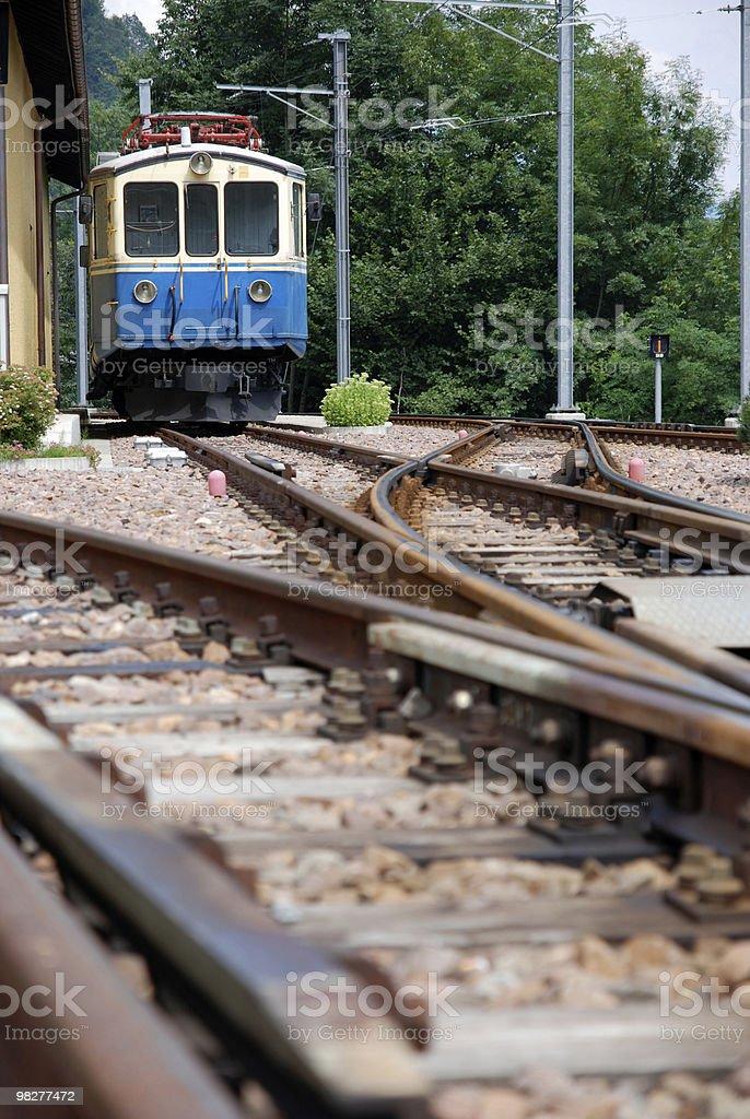 Arrivando vecchio treno numero 17 foto stock royalty-free