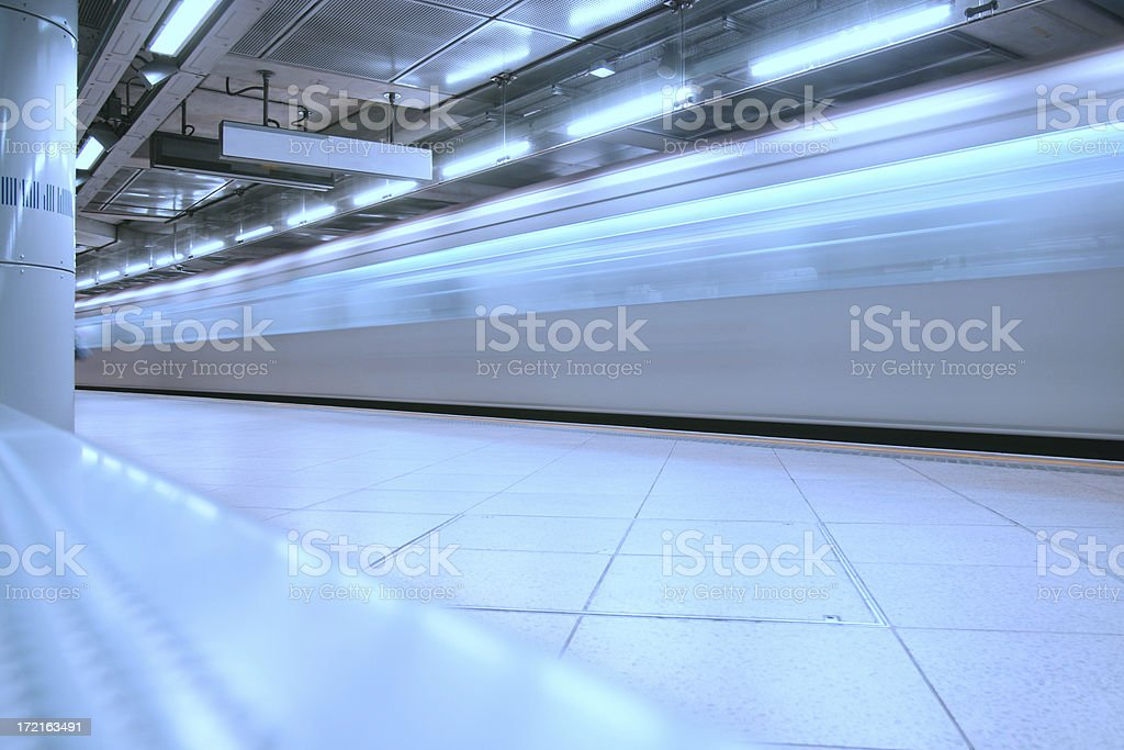 Arriving on the tube royalty-free stock photo