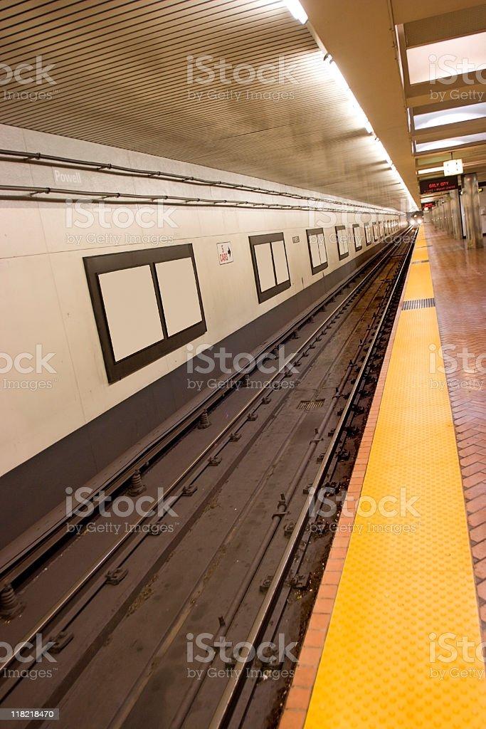 Arriving Subway Train stock photo