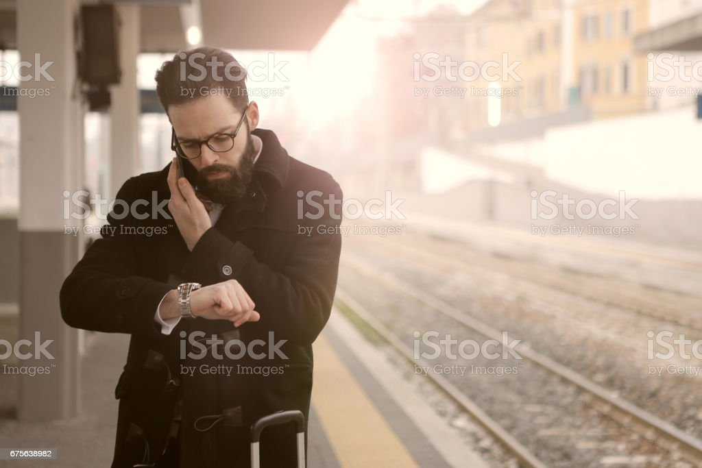 Arriving with delay royalty-free stock photo