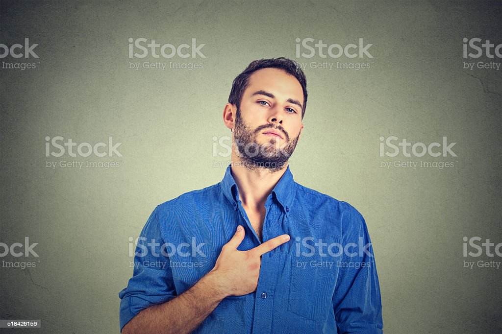 arrogant bold self important stuck up man stock photo