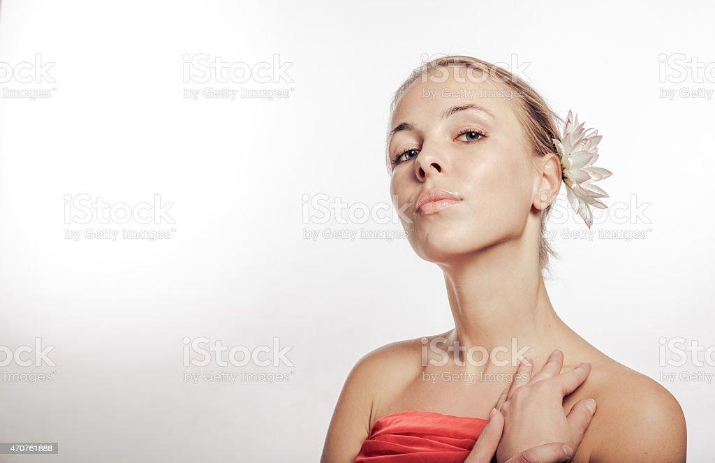 Arrogant girl stock photo