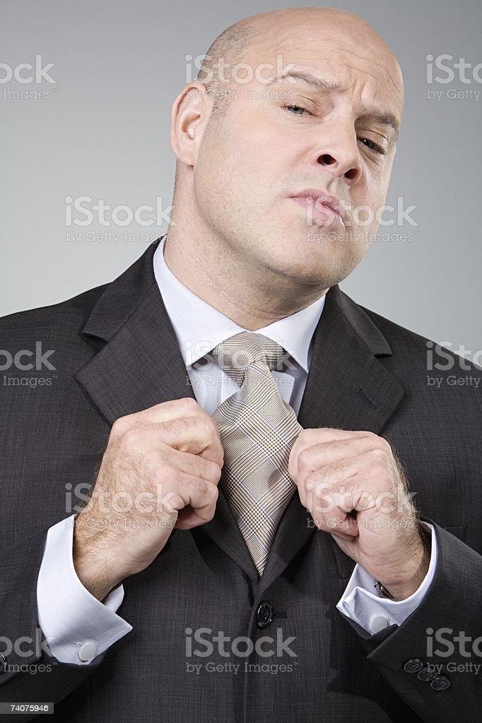 Arrogant man stock photo