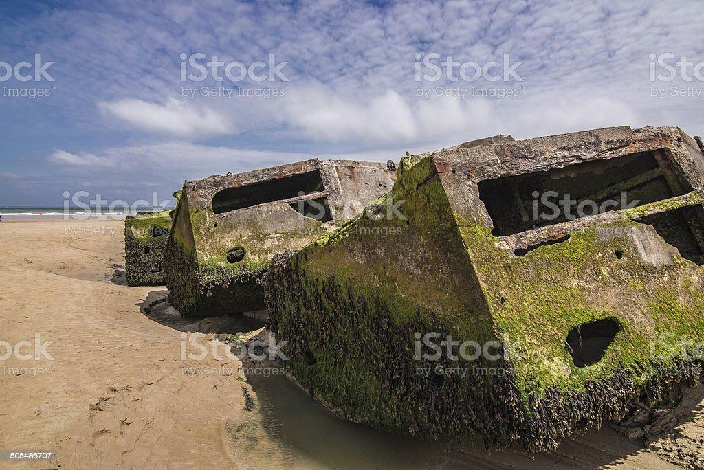 Arromanches Les Bains, Normandia, Francia stock photo
