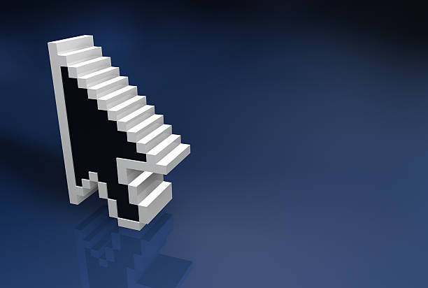arrow 3d - mouse pointer stock photos and pictures