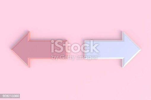 935214858istockphoto Arrow abstract minimal pink background, 3d rendering 928213360