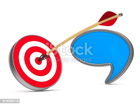 919544754 istock photo arrow and dartboard on white background. Isolated 3D illustration 918368216