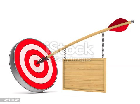919544754 istock photo arrow and dartboard on white background. Isolated 3D illustration 943801042