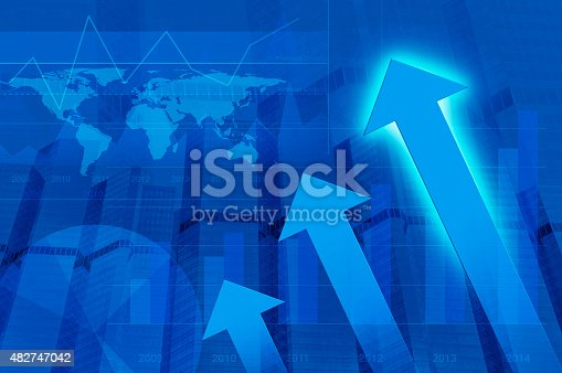 istock Arrow and graph, Elements of this image furnished by NASA 482747042