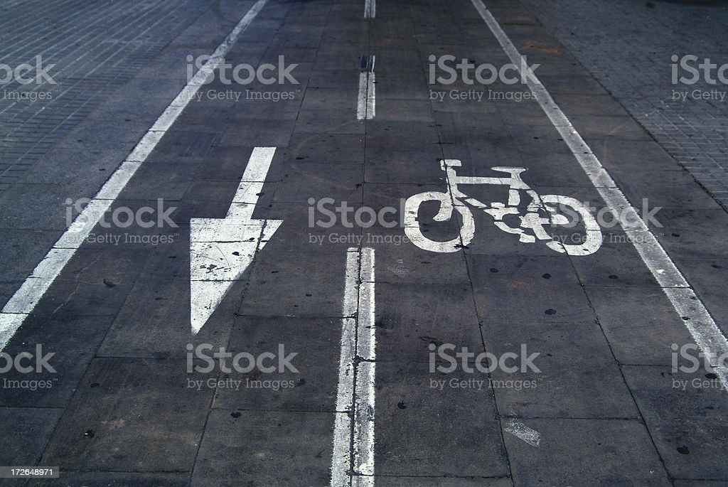 arrow & bike royalty-free stock photo