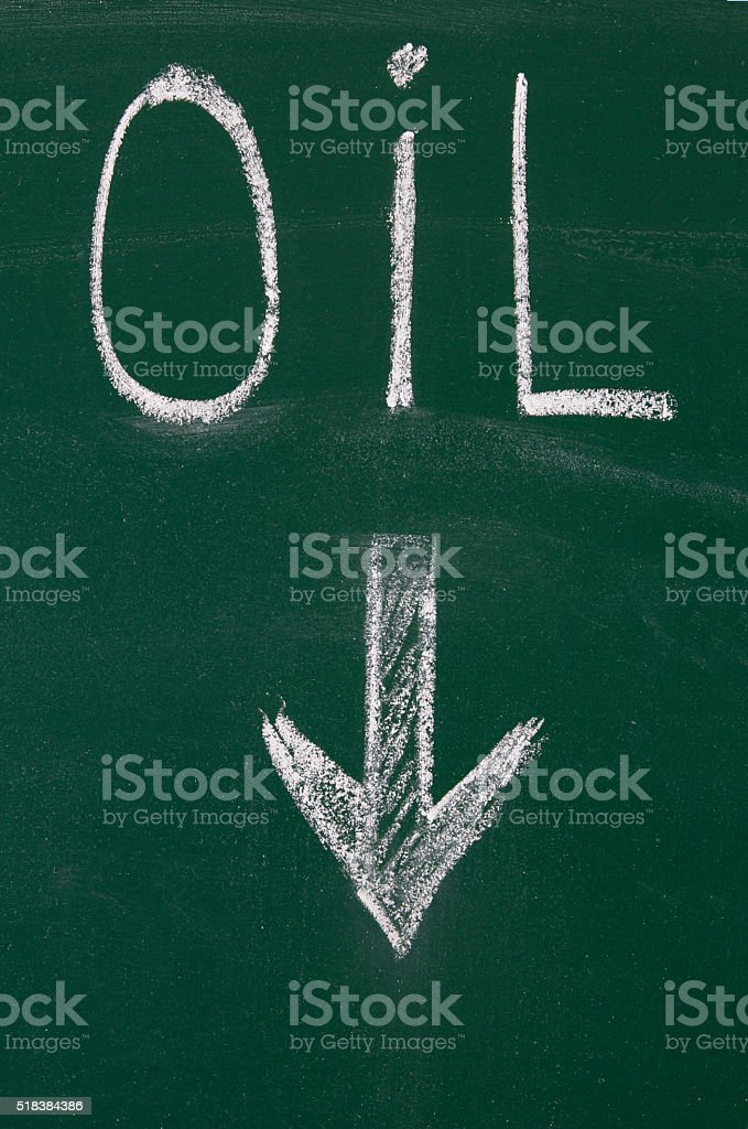 Arrow blackboard stock photo