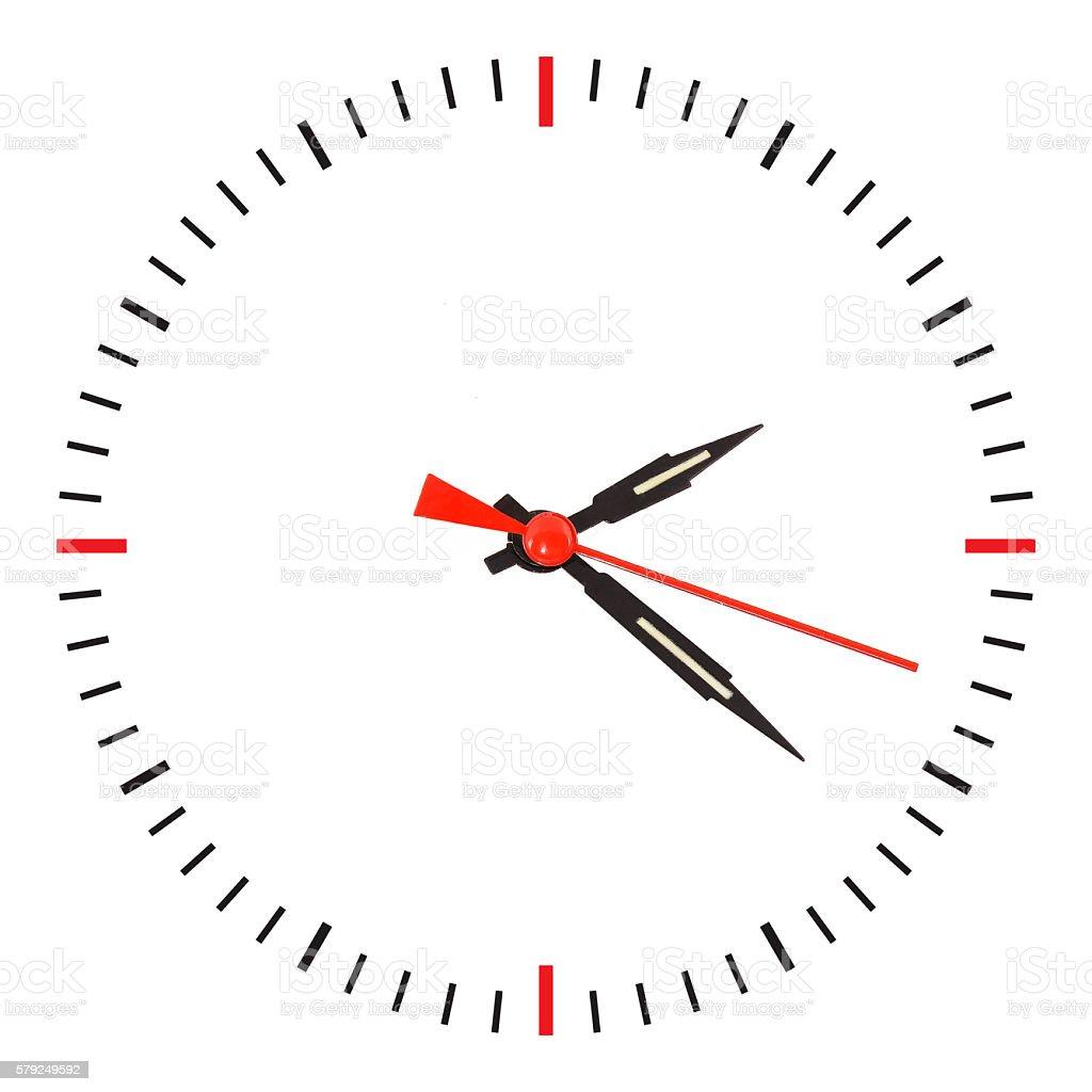 arrow clock isolated - foto de stock