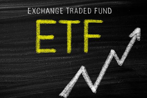 ETF  concept on blackboard