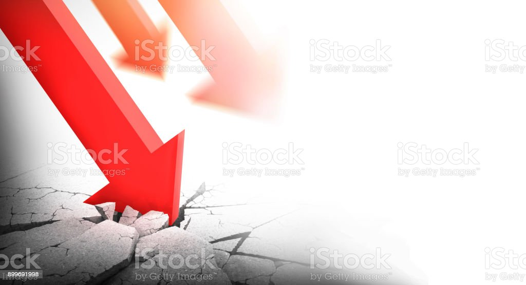 arrow dive into ground stock photo