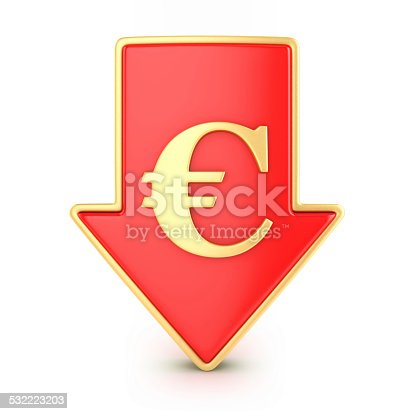 842160218istockphoto Arrow down with euro 532223203