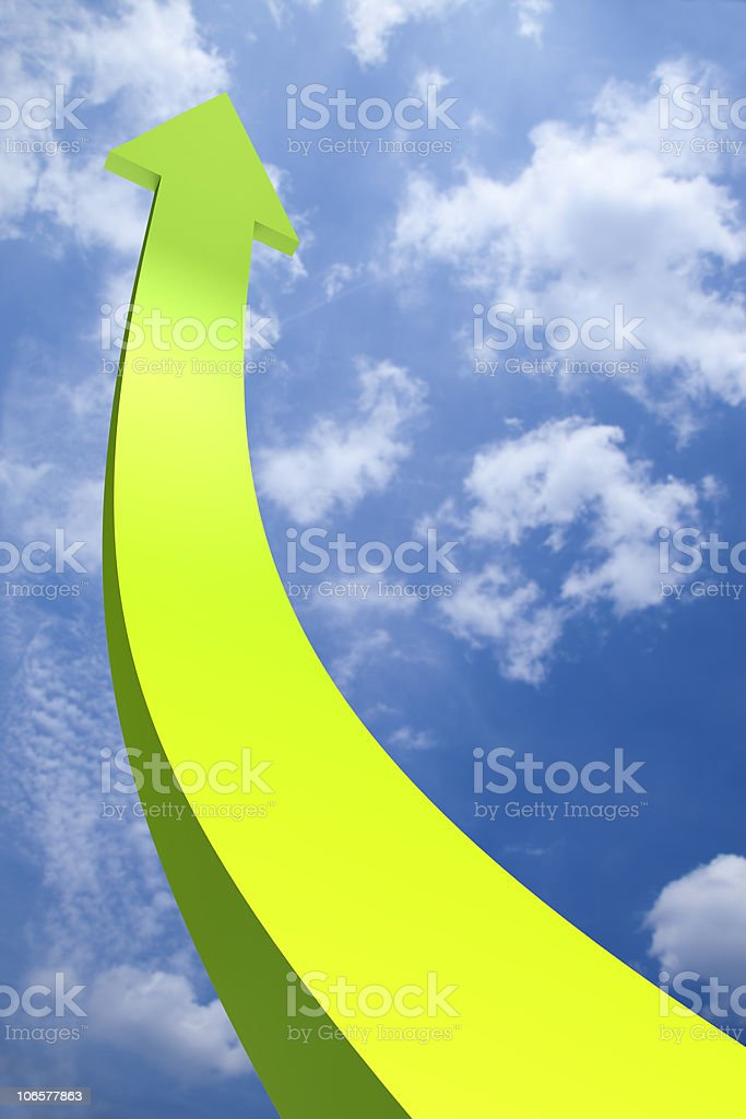 3D arrow going up royalty-free stock photo