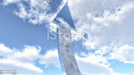 istock Arrow going up to the sky 538476570