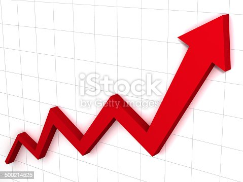 istock Arrow graph and chart 500214525