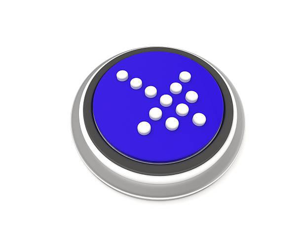 Arrow icon blue stock photo