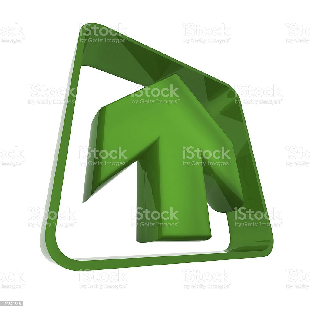 Arrow in green royalty-free stock photo