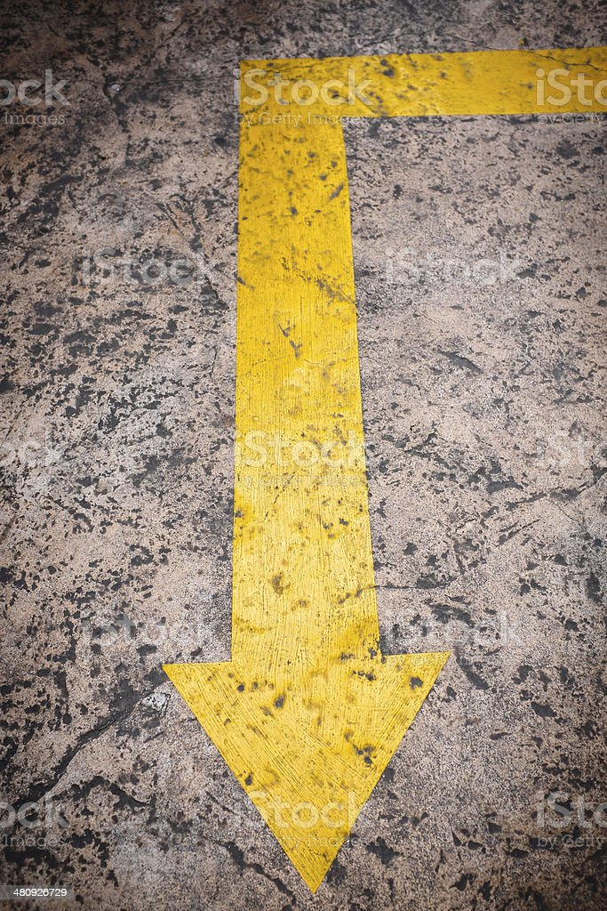 arrow in the street royalty-free stock photo