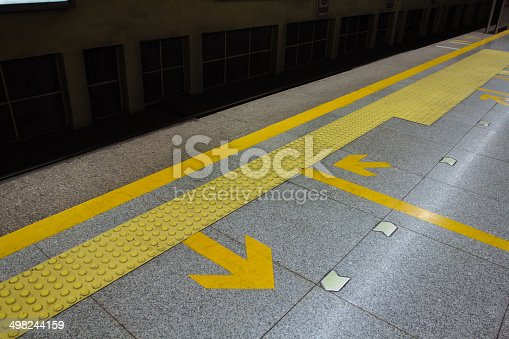 istock arrow in the subway station 498244159