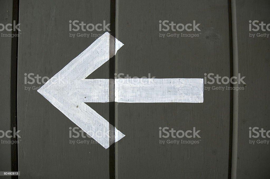 Arrow left royalty-free stock photo