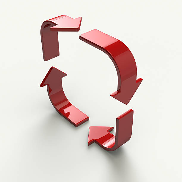 arrow loop - cyclic stock pictures, royalty-free photos & images