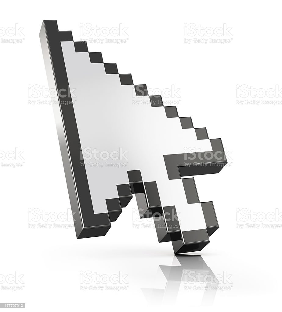 Arrow mouse computer cursor stock photo