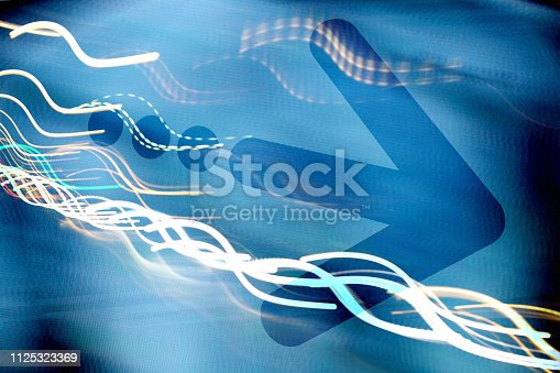 istock Arrow on abstract graphic background 1125323369