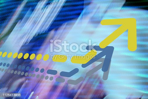 istock Arrow on abstract graphic background 1125413933