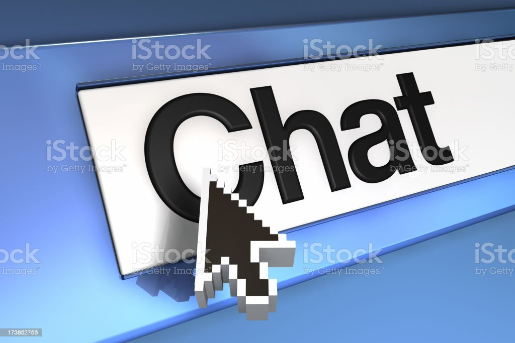 Arrow on Chat royalty-free stock photo