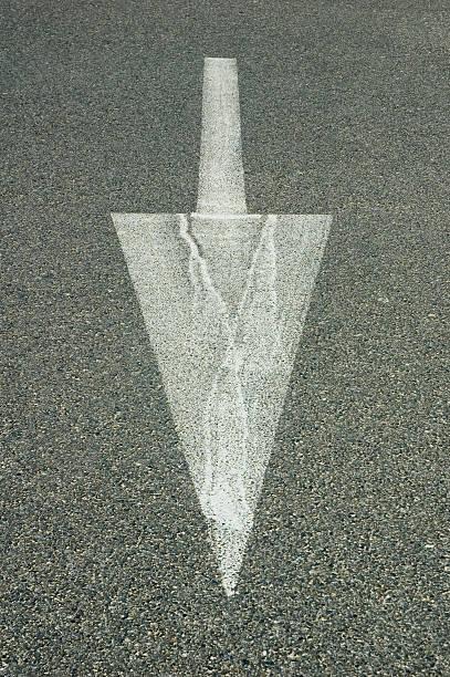 Arrow on the Street stock photo