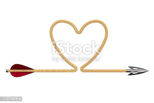 970844120 istock photo arrow on white background. Isolated 3D illustration 1127107810